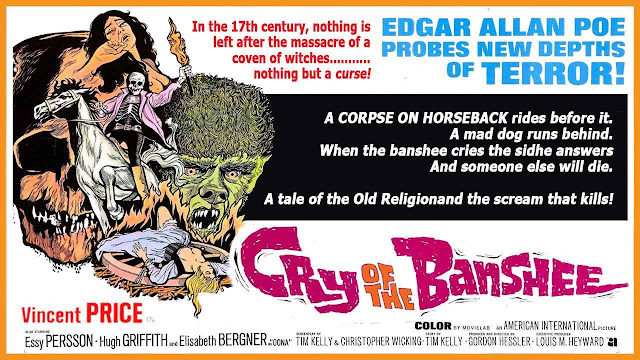 poster original de Cry of the Banshee (1970)