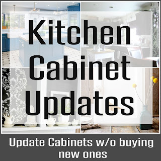 Several different ways you can easily update your kitchen cabinets without buying new ones.