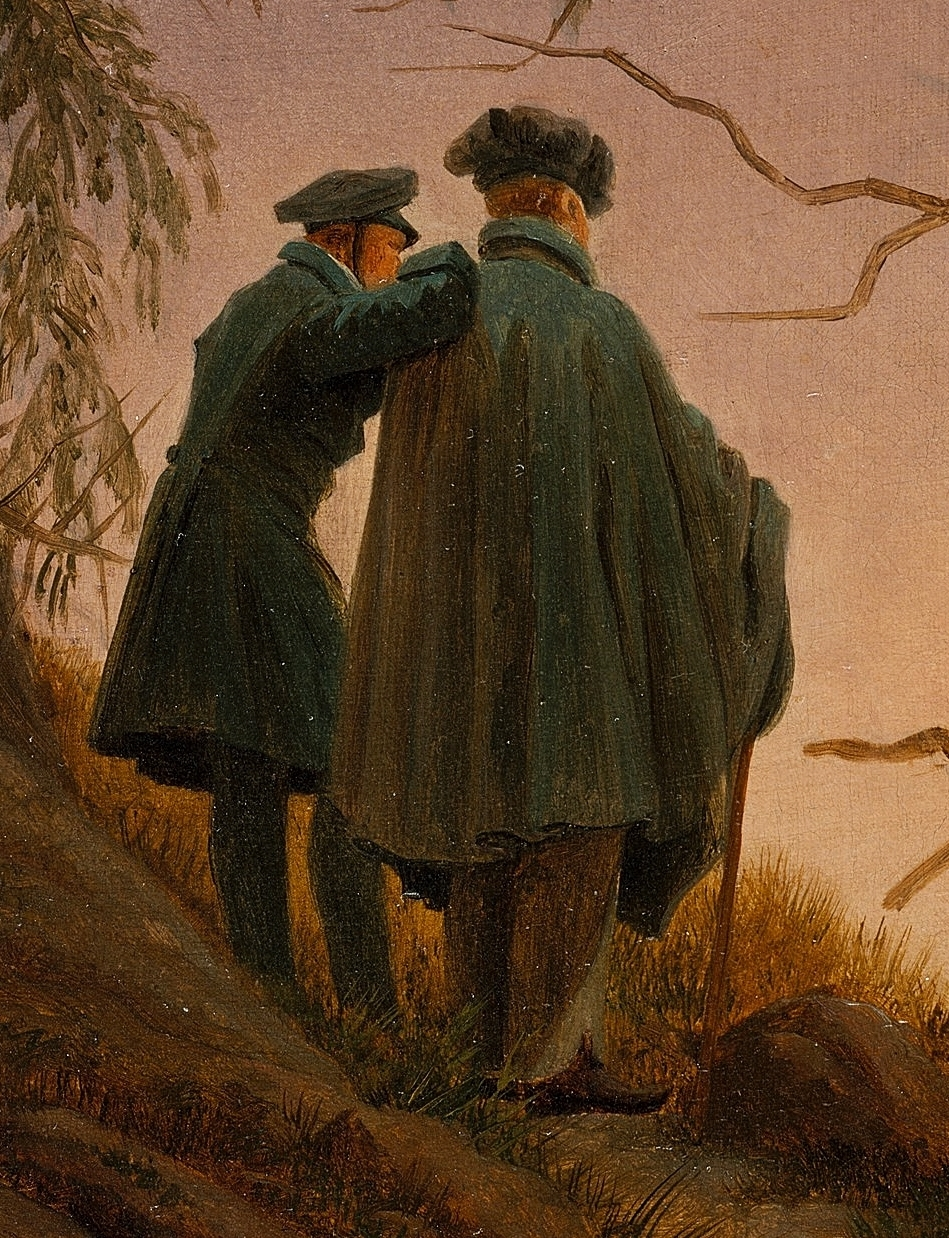 caspar david friedrich two men contemplating the moon 1825 30 tutt 39 art pittura. Black Bedroom Furniture Sets. Home Design Ideas