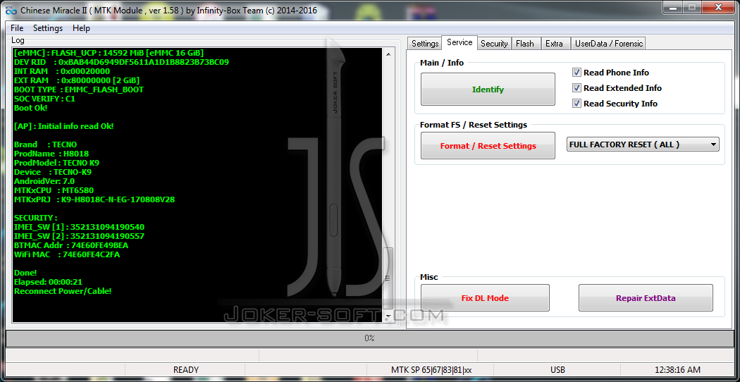 Tecno K9 Frp File