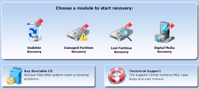 choose a module to start recovery