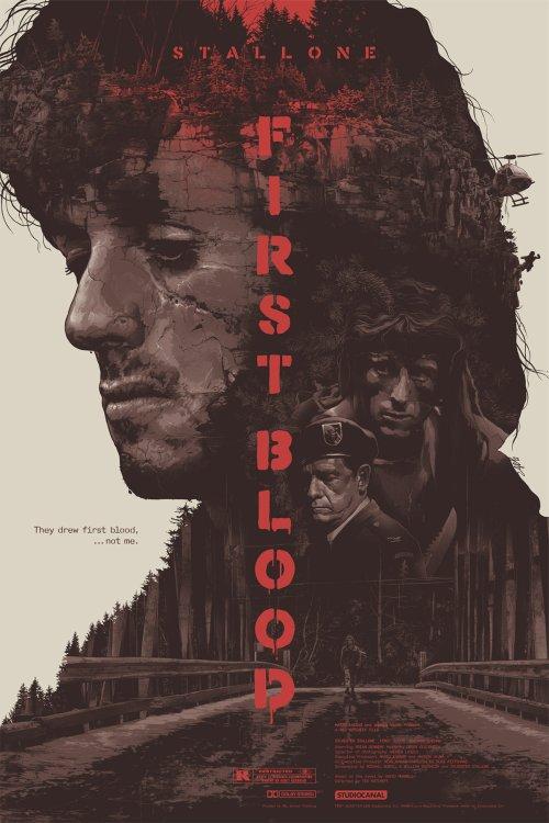Grzegorz Domaradzki ilustrações cartazes pôsteres filmes arte cinema First Blood (Rambo - Programado Para Matar)