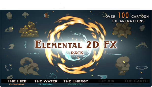 Elemental 2d Fx Pack Contains More Than 100 Cartoon Animations Have Separated Layers To Customize Color And Mix Elements