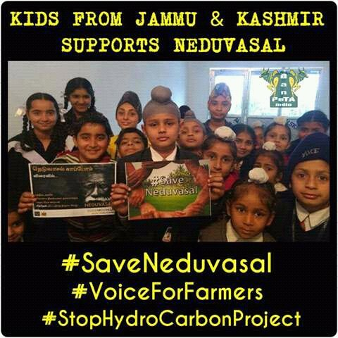 Kids of Jammu & Kashmir Supports Neduvasal
