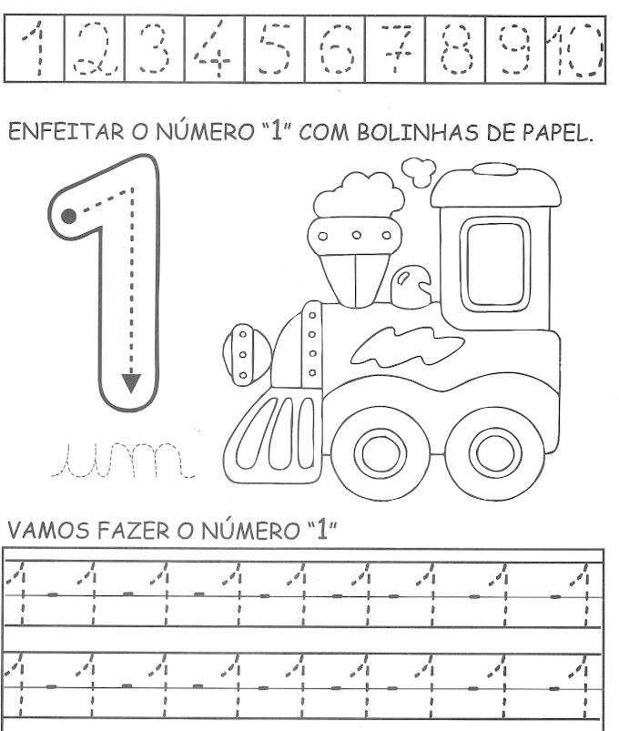 ATIVIDADES PARA TREINAR OS NÚMEROS DE 1 A 10.