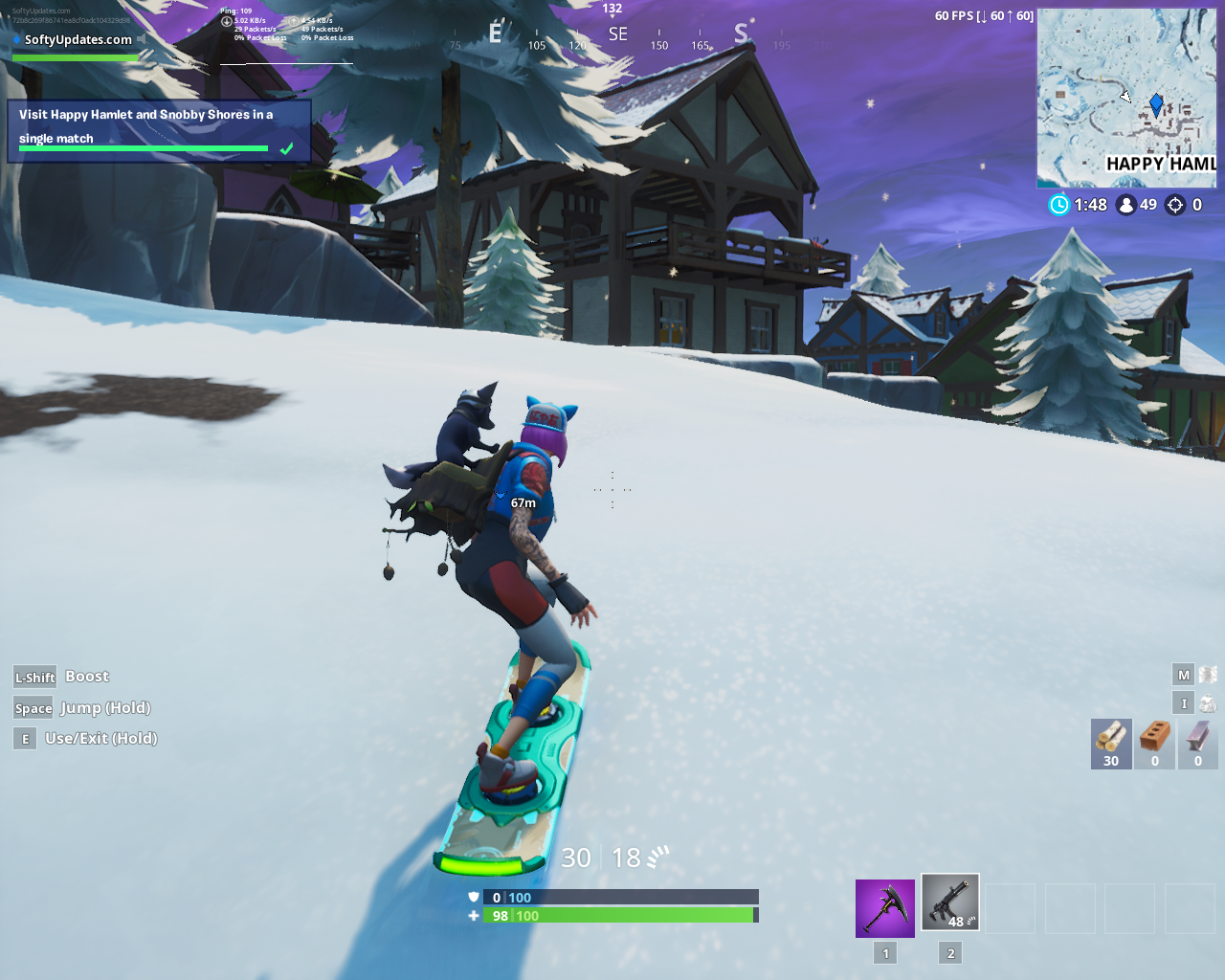 Visit Happy Hamlet and Snobby Shores in a single match