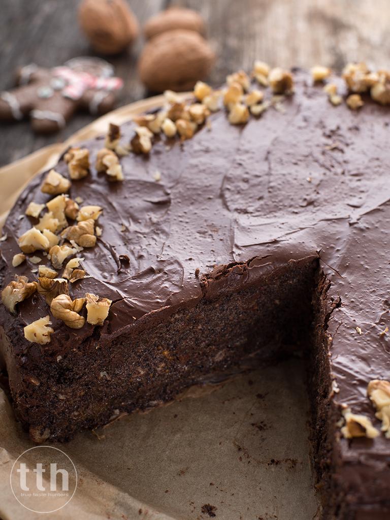 Makowiec z czekolada bez pieczenia - przepis weganski, bezglutenowy