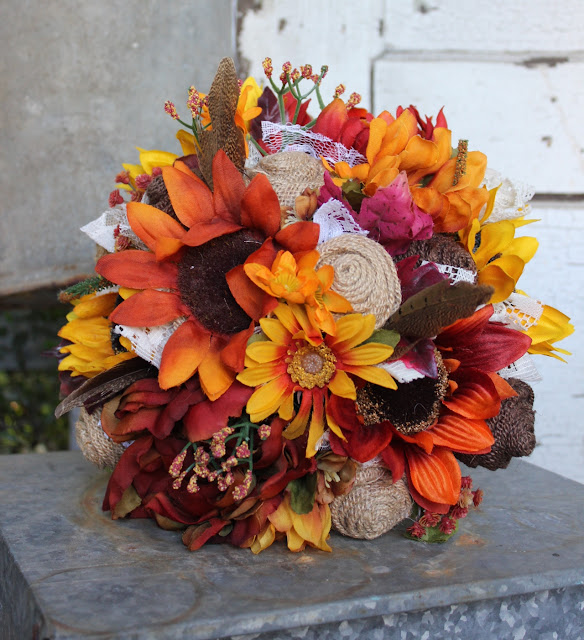 rustic fall wedding flowers