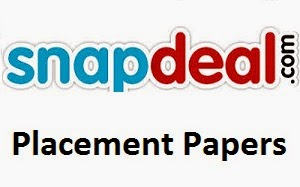 Snapdeal Placement Papers