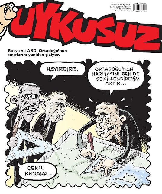Uykusuz Dergisi | 20 Ekim 2016 Kapak Karikatürü