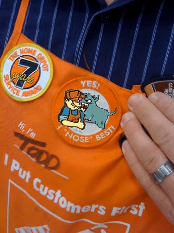 the o dot home depot introduces new flair badge for employees