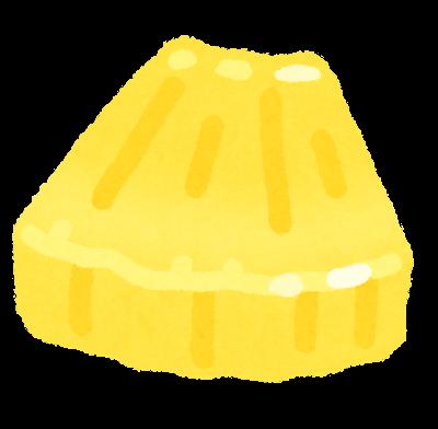 カットされたパイナップルのイラスト
