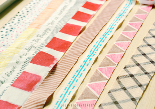 drawing at fabric