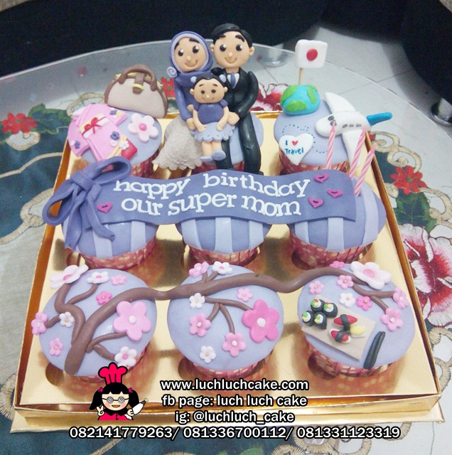 Cupcake Ulang Tahun Tema Traveling