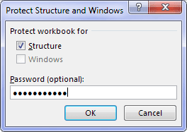 Protect Structure Workbook Excel