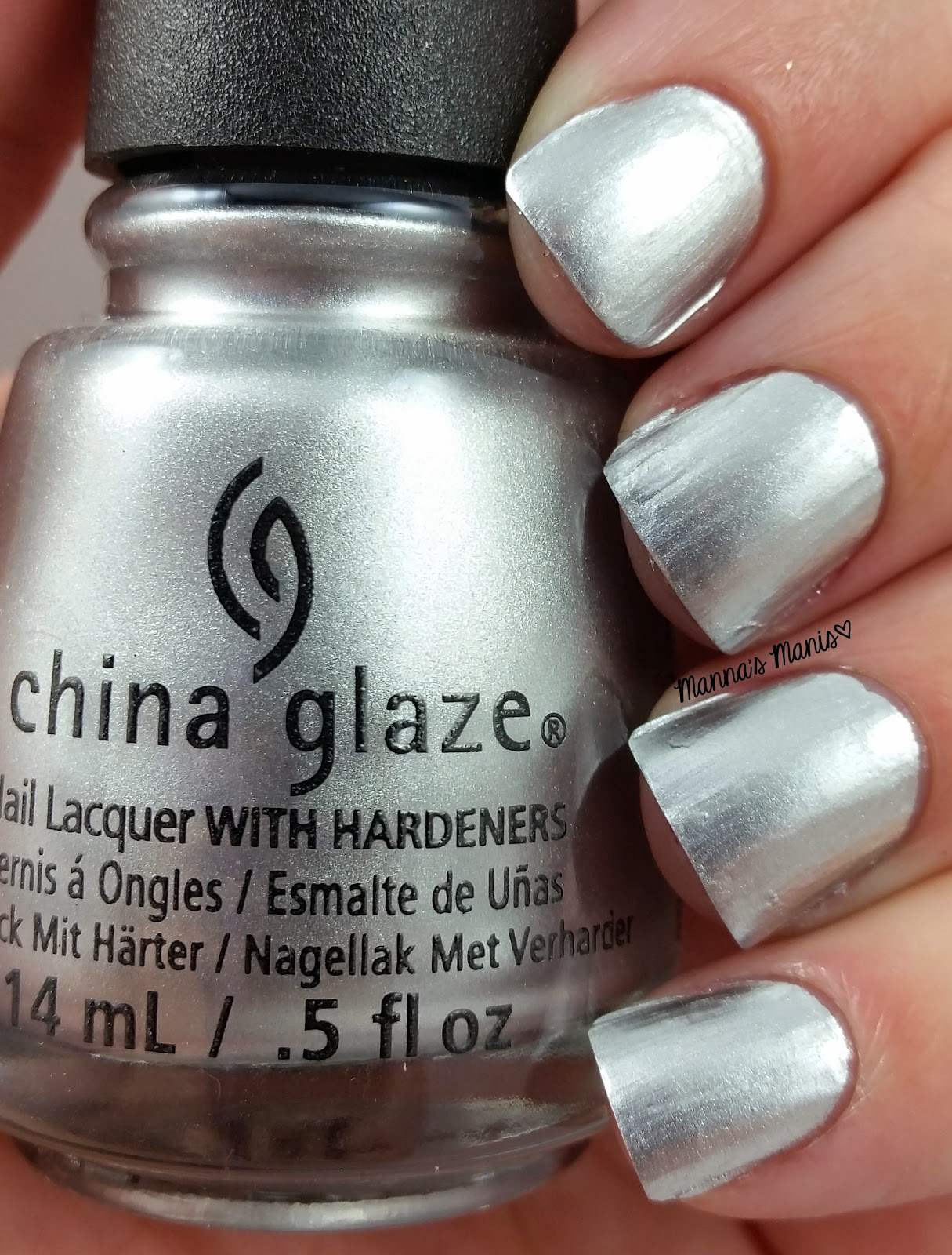 china glaze i'd melt for you, a silver chrome nail polish