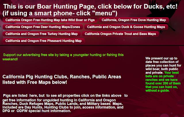 hunting and fishing clubs California Oregon, hunting fishing maps and reports Oregon and California