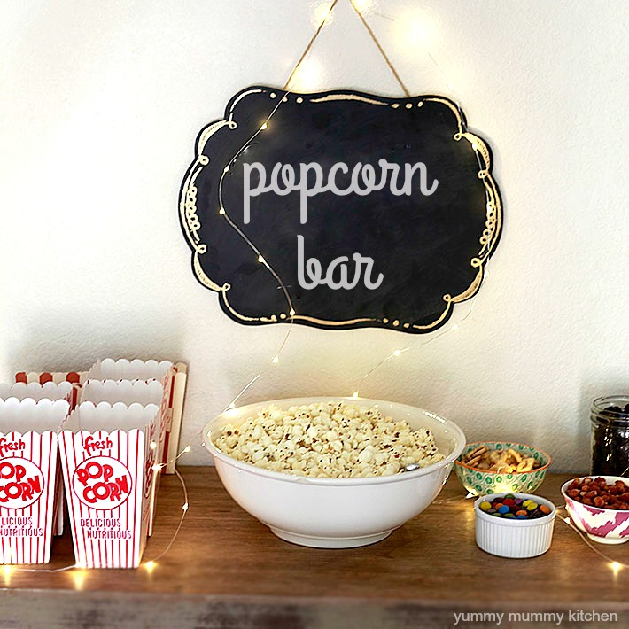 popcorn bar for movie night