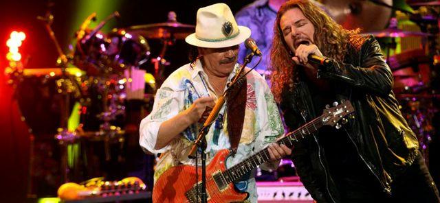 Carlos Santana con Maná