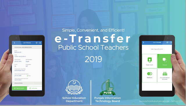 PROCEDURE FOR SUBMISSION OF ONLINE TRANSFER APPLICATION ON E-TRANSFER SYSTEM FOR TEACHERS