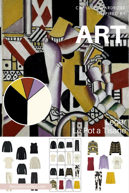 How to Accent a Neutral Capsule Wardrobe with Brights - Start with Art: Le Pot a Tisane by Leger