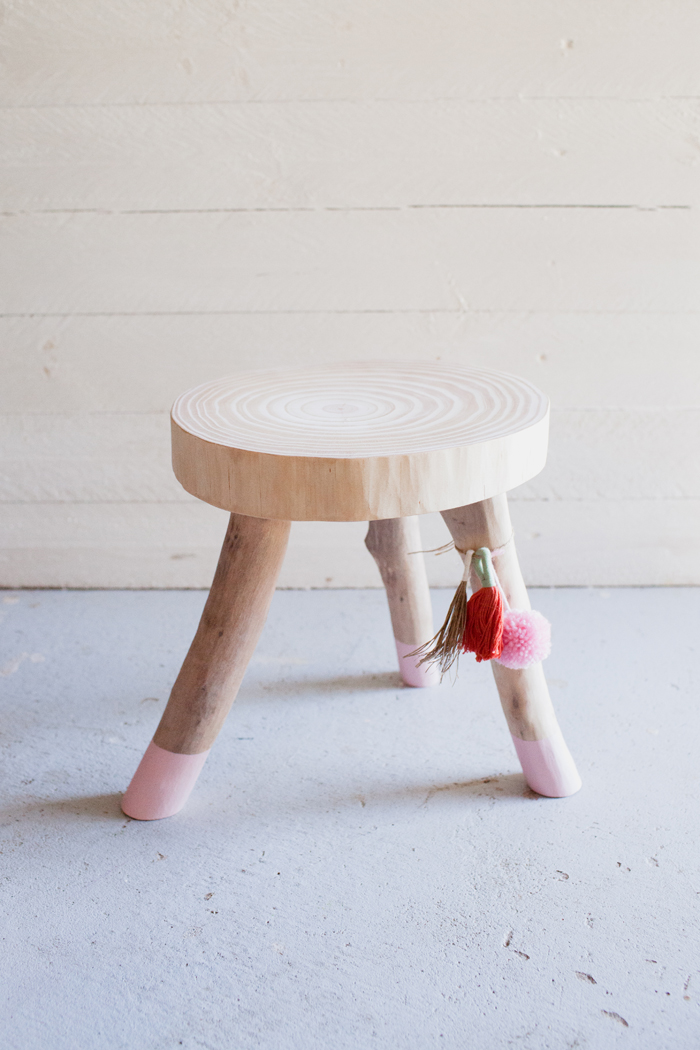 scandi wooden stool