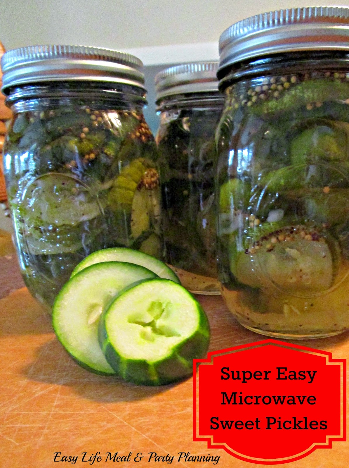 Easy Life Meal & Party Planning: Quick & Easy Sweet Pickles - Microwave Quick and quite the time saver yet you have that sweet crispy homemade deliciousness!