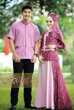 Desain baju muslim sarimbit terbaru