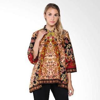 Contoh Baju Batik Kerja Guru Kombinasi