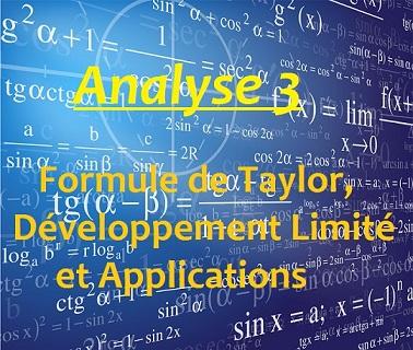 Cours Analyse 3 Formules De Taylor Developpement Limite Et Applications S2 Pdf Goodprepa