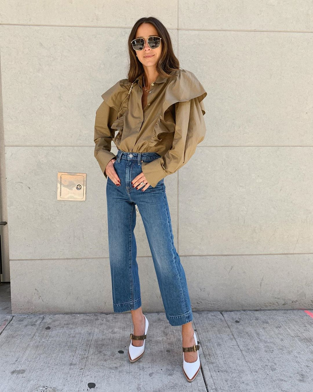 The Best Ruffled Blouses for Fall — Arielle Charnas Outfit Inspiration