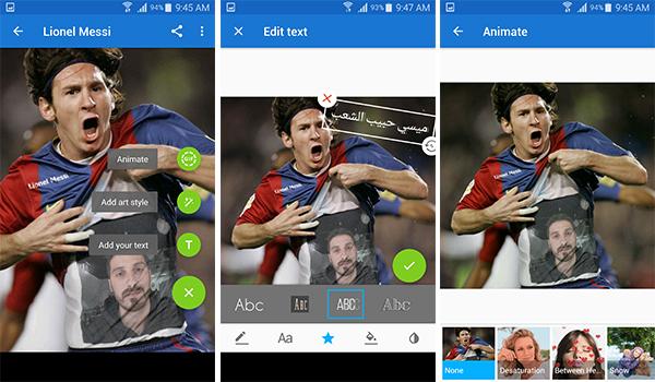 يمكنك الكتابة بالعربية على الصور من خلال تطبيق Photo Lab