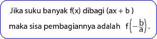 Menentukan Sisa Pembagian Suku Banyak oleh Bentuk (ax + b)