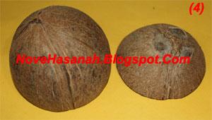 langkah-langkah dan cara membuat kerajinan tangan wadah multigunan dari batok (tempurung) kelapa yang sangat mudah untuk anak-anak 4