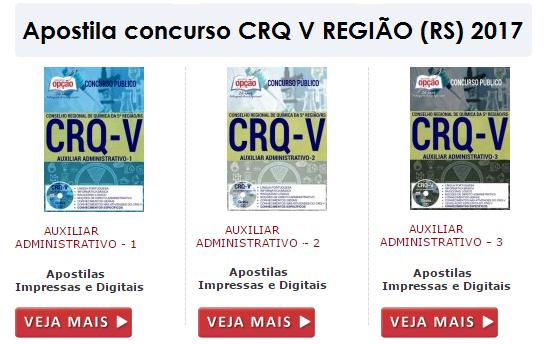Apostila CRQ V Região RS Auxiliar Administrativo - 1.