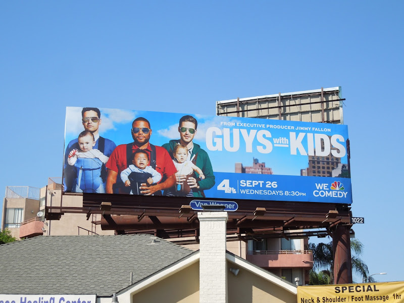 Guys with Kids sitcom billboard