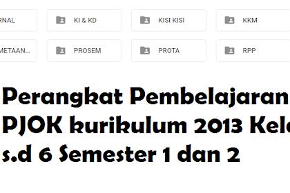 Dowload Silabus, Prota, Promes, RPP,  Jurnal PJOK K13 Kelas 1 s.d 6 Semester 1 dan 2