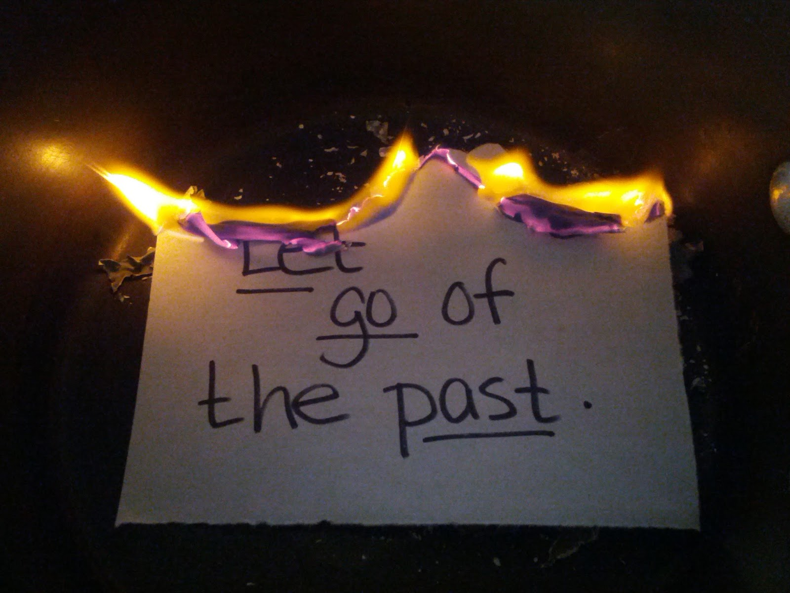 Letting go of the past essay