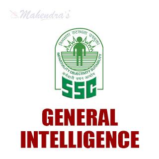 SSC Quiz : General Intelligence   07 -11 -17