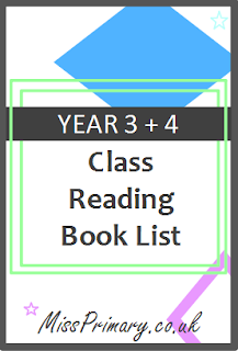 year 3 4 class book reading list
