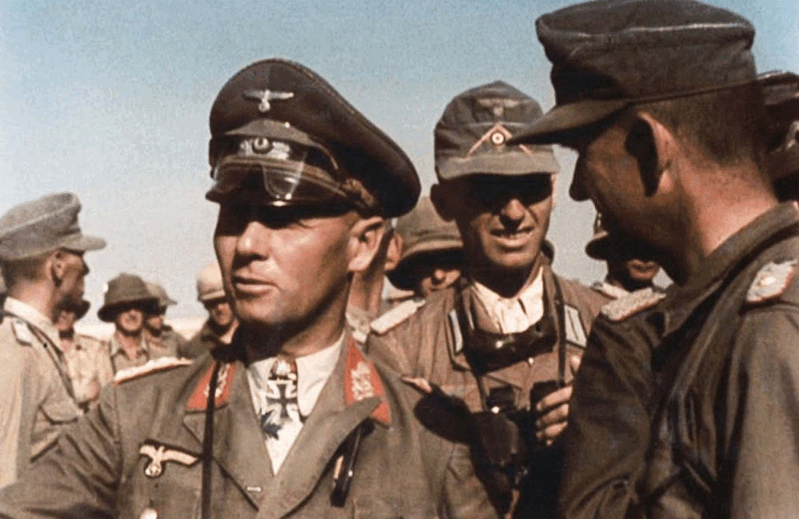 Erwin Rommel and his staff, Western Desert, 1942.