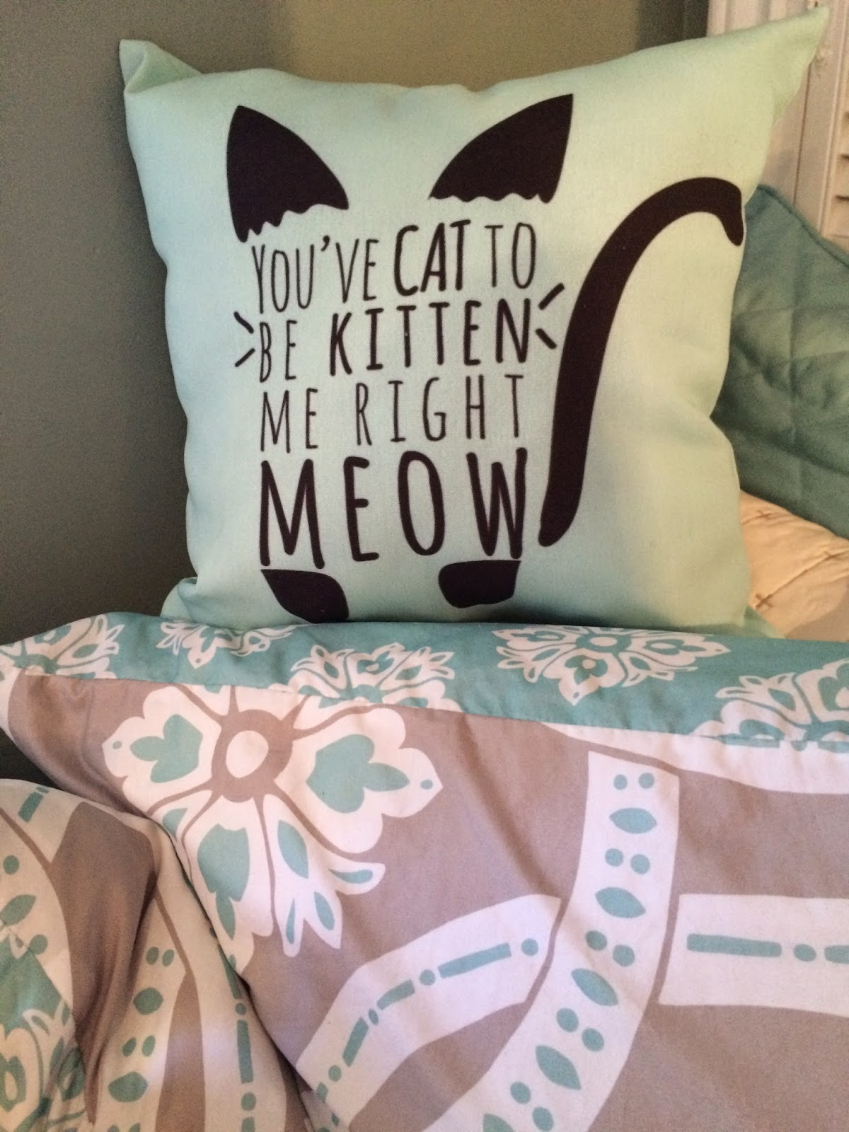 Kitten Me right Meow Pillow