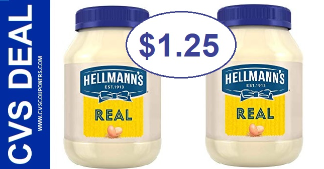 CVS Hellmanns Mayonnaise Deal - $1.25 - 5/19-9/25