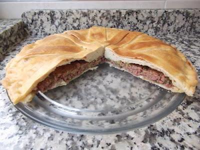 Empanada de carne con verduras