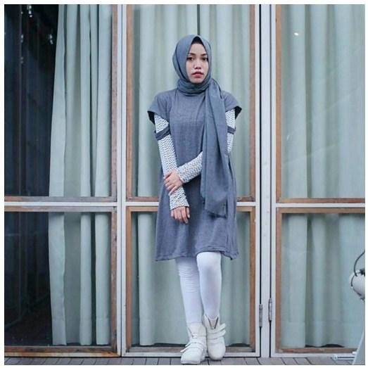 Style hijab modern terbaru yang cocok untuk mini dress agar terlihat tetap sopan - Foto moderne dressing ...