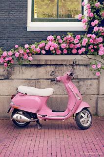 Pink Vespa Ride
