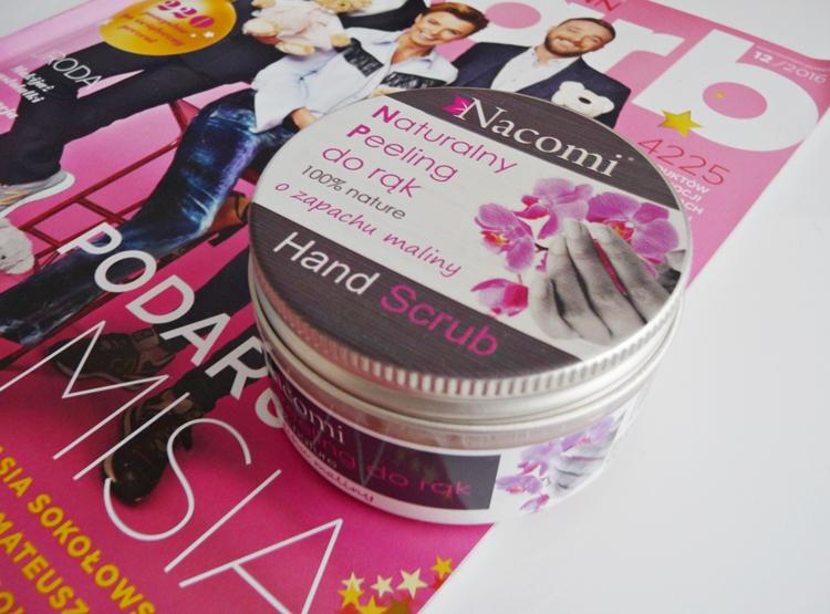 Naturalny peeling do rąk o zapachu maliny, Nacomi