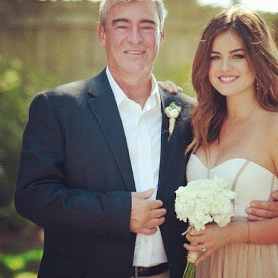 Lucy Hale with her father Preston Hale