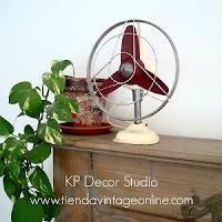 Comprar ventilador antiguo tiendas decoración vintage valencia