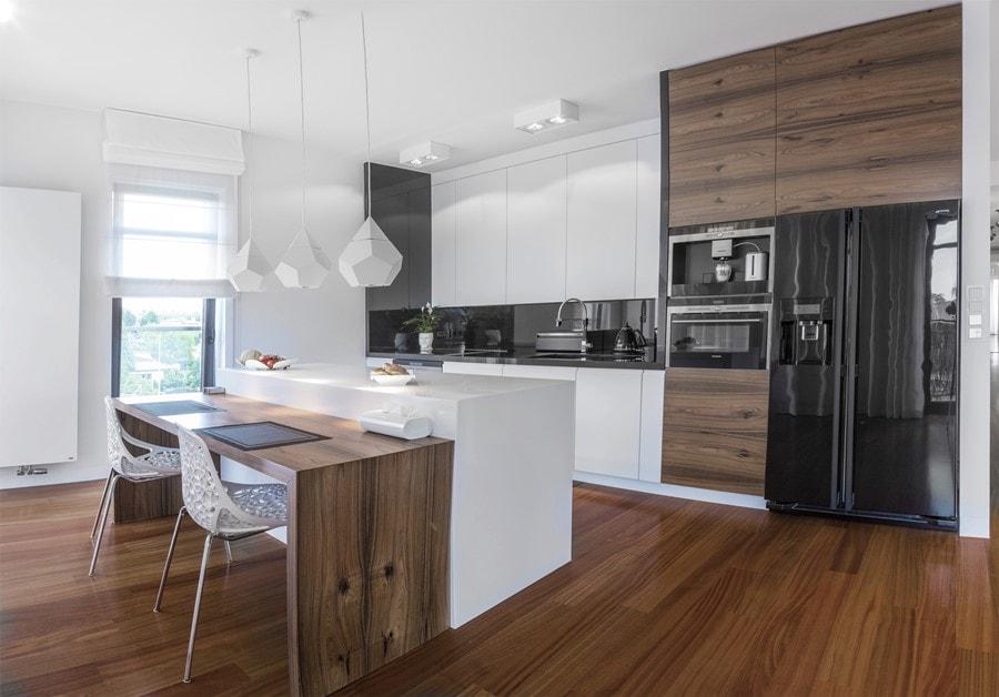 30 ideas de cocinas en blanco y madera i cocinas con - Cocina encimera teka 4 platos ...